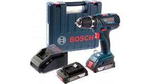 Акумуляторний дриль-шурупокрут Bosch GSR 18-2-LI Plus в чемодані з 2 акб GBA 18V 2 Ah та з/п AL 1820 CV