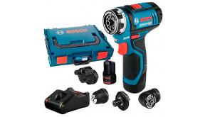 Акумуляторний шурупокрут Bosch Professional GSR 12V-15 FC в L-Boxx 102 з 2 акб GBA 12V 2,0 Ah та з/п GAL 12V-40