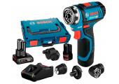 Акумуляторний шурупокрут Bosch Professional GSR 12V-15 FC в L-Boxx 102 з 2 акб GBA 12V 2,0 Ah, 1 акб GBA 12 V 6,0 Ah та з/п GAL 12V-40