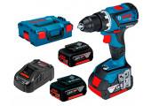 Безщітковий акумуляторний дриль-шурупокрут Bosch Professional GSR 18V-60 в L-Boxx 136 із 3 акб GBA 18V 5.0Ah та з/п GAL 1880 CV