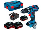 Безщітковий акумуляторний ударний шурупокрут Bosch Professional GSB 18V-60 C в L-Boxx 136 із 3 акб GBA 18 V 5,0 Ah та з/п GAL 1880 CV