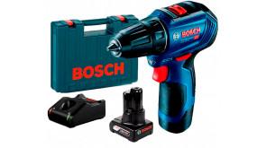Безщітковий шурупокрут Bosch GSR 12V-30 Professional в чемодані з акб GBA 12V 2 Ah та 6 Ah, з/п GAL 12V-40