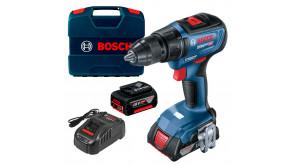 Безщітковий акумуляторний дриль-шурупокрут Bosch GSR 18V-50 Professional в  L-Case з 1 акб 2 Ah, 1 акб 5 Ah та з/п GAL 1880 CV