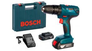 Акумуляторний ударний дриль-шурупокрут Bosch Professional GSB 180-LI в чемодані з 2 акб GBA 18V 1,5 Ah та з/п AL 1814 CV