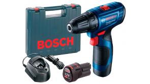 Акумуляторний дриль-шурупокрут Bosch GSR 120-LI в чемодані з 2 акб 2 Ah, з/п GAL 1210 CV