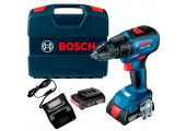 Безщітковий акумуляторний дриль-шурупокрут Bosch GSR 18V-50 Professional в  L-Case з 2 акб 2 Ah та з/п GAL 18V-20