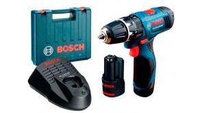 Ударний дриль-шурупокрут Bosch Professional GSB 120-Li в чемодані з 2 акб GBA 12V 1,5 Ah та з/п AL 1110 CV