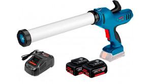 Акумуляторний пістолет для герметиків Bosch Professional GCG 18V-600 з 2 акб GBA 18V 5 Ah, з/п GAL 1880 CV в картоні