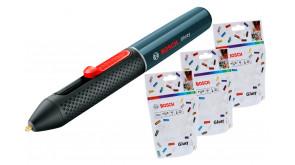 Клейова ручка Bosch Gluey Smokey Grey + 3 пачки прозорих стрижнів Gluey