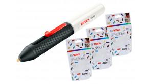 Клейова ручка Bosch Gluey Marshmallow + 3 пачки прозорих стрижнів Gluey