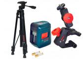 Лазерний нівелір Bosch Professional GLL 2 з тримачем MM 2, штативом BT 150