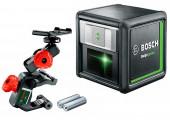 Лазерний нівелір Bosch Quigo green з тримачем MM 2 та адаптером