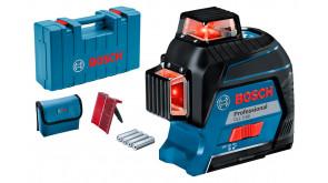 Лінійний лазерний нівелір Bosch GLL 3-80 Professional в кейсі з мішенню та чохлом