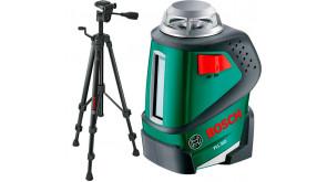 Лінійний лазерний нівелір Bosch PLL 360 SET з штативом BT 150, чохлом