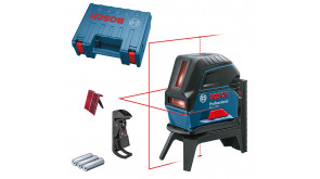 Лазерний нівелір Bosch GCL 2-50 Professional в чемодані з тримачем і 3 батарейками