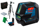 Лазерний нівелір Bosch GCL 2-50 G Professional з штативом BT 150, тримачем RM 10, чохлом, мішенню