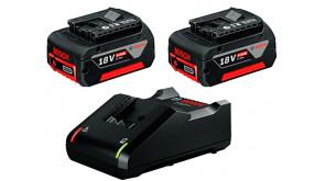 Набір 2 акумулятора Bosch GBA 18V 4.0Ah та ЗП GAL 18V-40