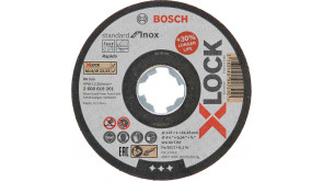 Круг відрізний Bosch X-Lock Standard for Inox, 115х1х22,23 мм, прямий