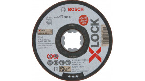 Круг відрізний Bosch X-Lock Standard for Inox, 115х1,6х22,23 мм, прямий