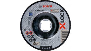 Круг відрізний Bosch X-Lock Expert for Metall, 125х2,5х22,23 мм, увігнутий