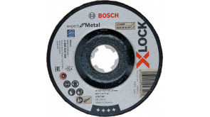 Круг обдирний Bosch X-Lock Expert for Metall, 125х6х22,23 мм, увігнутий
