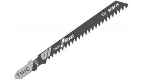 Пилка для лобзика Bosch по дереву T 111 C, 3×100 мм, 5 шт
