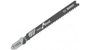 Пилка для лобзика Bosch по дереву T119B, 1,9-2,3×92 мм, 5 шт