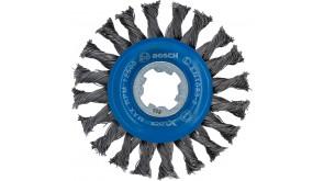 Дискова щітка Bosch X-Lock 115 мм вузлики сталь 0,5 мм