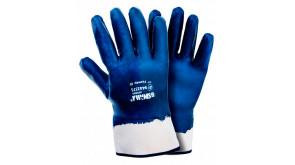 Перчатки трикотажні Sigma з нітриловим покриттям (сині краги), розмір 10
