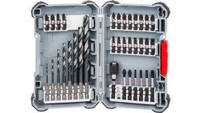 Набір свердел Bosch HSS та біт, 35 шт