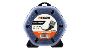 Волосінь косильна Echo 2,4 мм 12 м Black Diamond