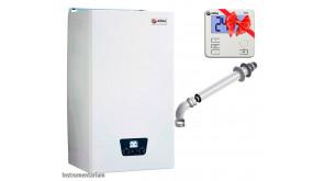 Газовий котел Roda Micra Duo CS 24 з коаксіальним димарем Roda KITCONC00 60/100, термостатом RTW2 або RTW7
