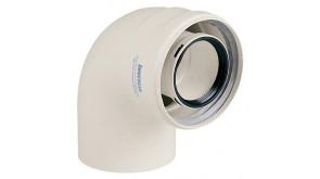 Коаксіальне коліно Immergas 90° 60/100 мм для конденсаційних котлів