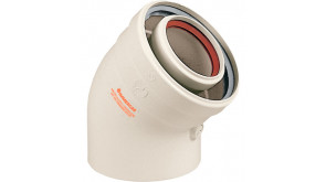 Коаксіальне коліно Immergas 45° 60/100 мм для конденсаційних котлів