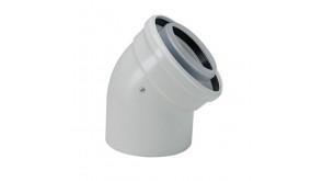Коаксіальний відвід 45° Bosch AZB 911, DN60/100 мм