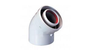 Відведення 45° Bosch AZ 408 для роздільних димоходів Ø80