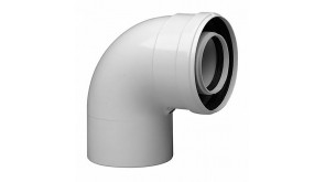Коаксіальне відведення 90° Bosch AZ 393 115х60/100 мм