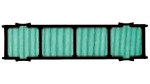 Фільтр повітряний для спліт-систем Midea, активний Біо (BIOFILTER)