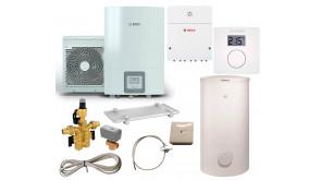 Тепловий насос Bosch Compress 3000 AWES 8 з водонагрівачем SH 290 RS-B, термостатом CR10, модулем ProControl Gateway, SG160S, 3-ходовим клапаном, конденсатозбірником, електрокабелем