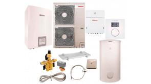 Тепловий насос Bosch Compress 3000 AWES 15 з водонагрівачем SH 450 RS-B, термостатом CR10, модулем ProControl Gateway, SG160S, 3-ходовим клапаном, конденсатозбірником, електрокабелем