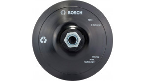 Опорна тарілка Bosch на липучці, 125 мм, М14